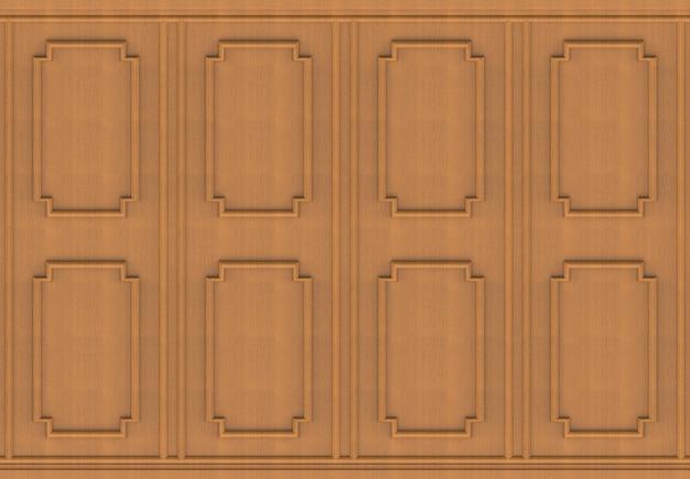 Fond de mur luxueux bois brun forme carrée modèle panneau design vintage.