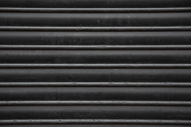 Fond de mur en métal noir