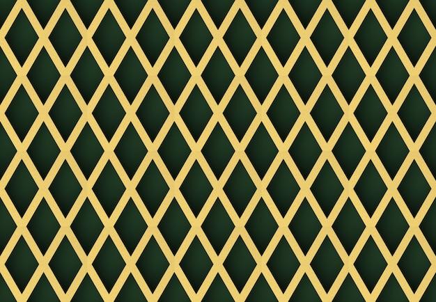 Fond de mur de modèle sans couture moderne luxueux grille dorée.