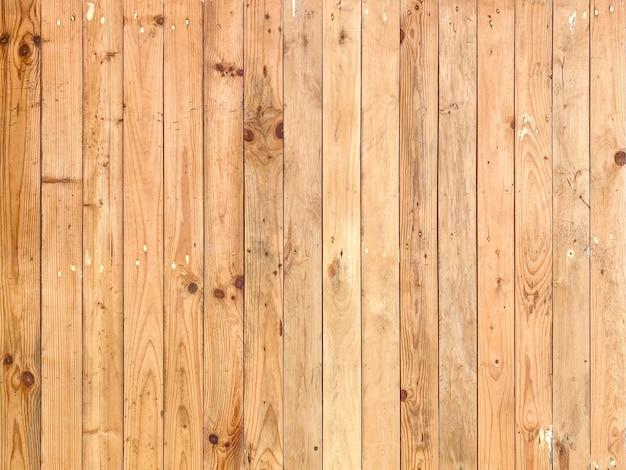 Fond de mur de panneau de bois brun naturel vertical.