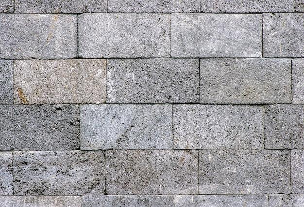 Fond de mur de pierre à carreaux foncé naturel