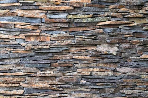 Fond de mur de pierre. texture de roche. modèle abstrait. toile de fond naturelle. carreaux gris de la façade du bâtiment. élément d'architecture, design vintage. mur de briques, maçonnerie.