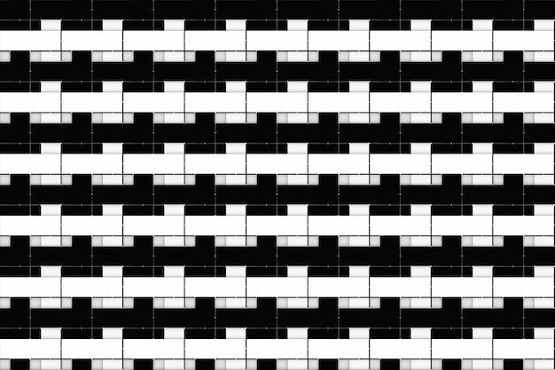 Fond de mur de pile de conception de bloc de briques noires et blanches de luxe moderne sans soudure.