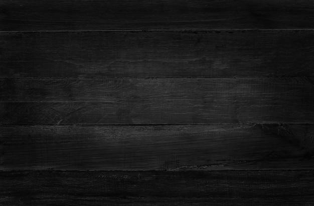 Fond de mur de planche de bois noir, texture de bois d'écorce avec ancien motif naturel.