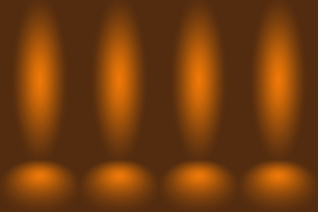Fond de mur de salle de studio dégradé orange lisse maquette abstraite