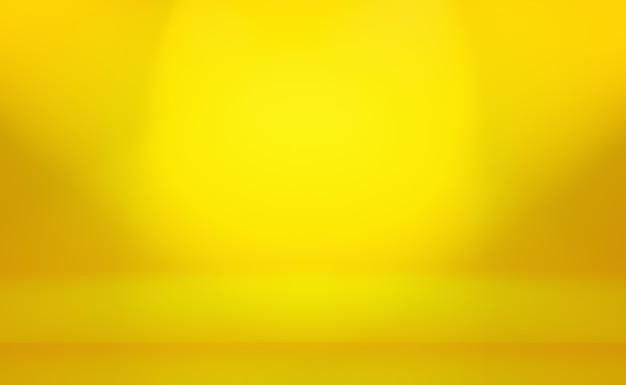 Fond de mur de studio dégradé abstrait luxe or jaune