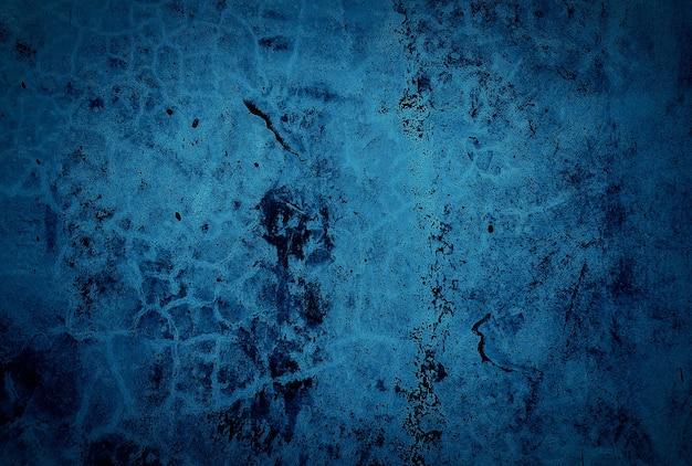 Fond de mur de texture béton bleu grunge vintage