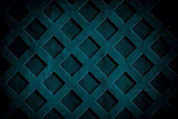 Fond de mur texturé ciment grille bleu profond