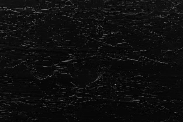 Fond de mur texturé noir fissuré