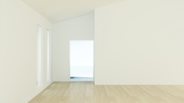 Le fond de mur vide intérieur en copropriété - rendu 3d