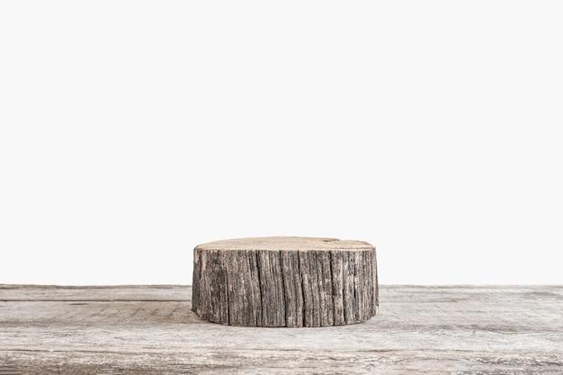 Fond naturel naturel pour les cosmétiques une composition minimaliste avec un podium en bois