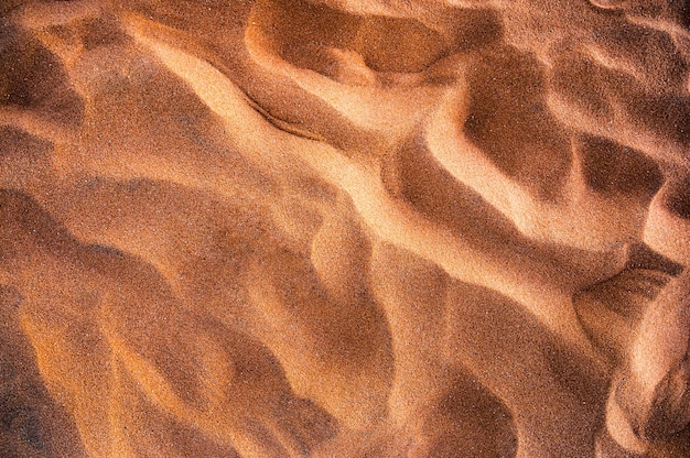 Fond naturel de sable ondulé doré