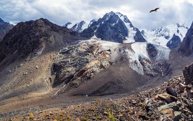 Fond naturel spectaculaire de la surface du glacier avec des fissures. fond naturel du mur de glace et du glacier en arrière-plan. belle texture naturelle d'un mur de glacier sombre.