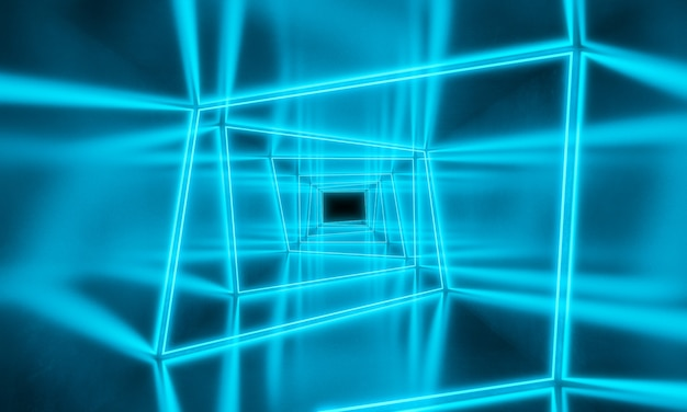 Fond de néons bleus
