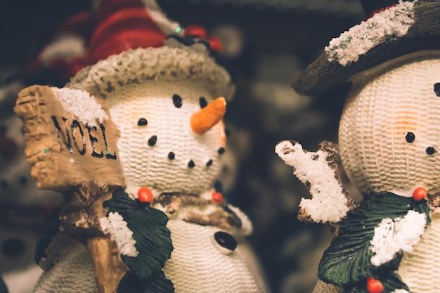 Fond de noël bonhommes de neige