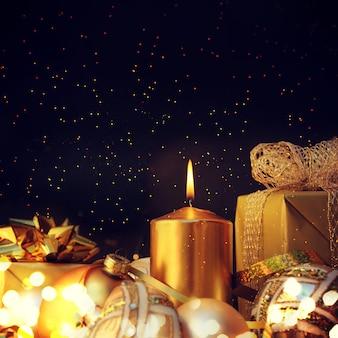 Fond de noël avec des bougies