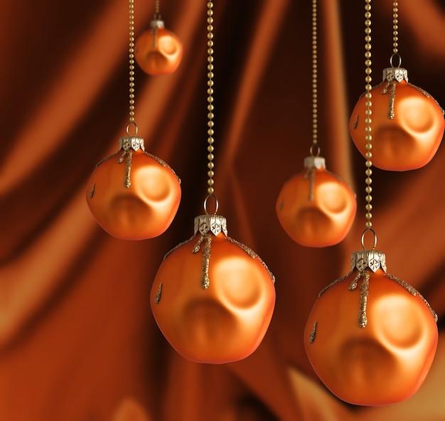 Fond de noël avec des boules et des perles