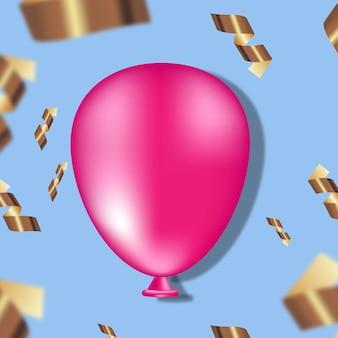 Fond de noël. fond de fête avec ballon à l'hélium. affiche, bannière joyeux anniversaire. contenu joyeuses fêtes