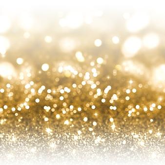 Fond de noël de paillettes d'or
