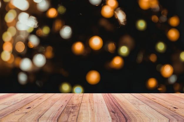 Fond de noël et plancher en bois