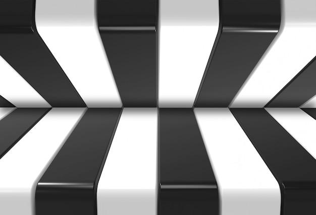 Fond noir et blanc moderne