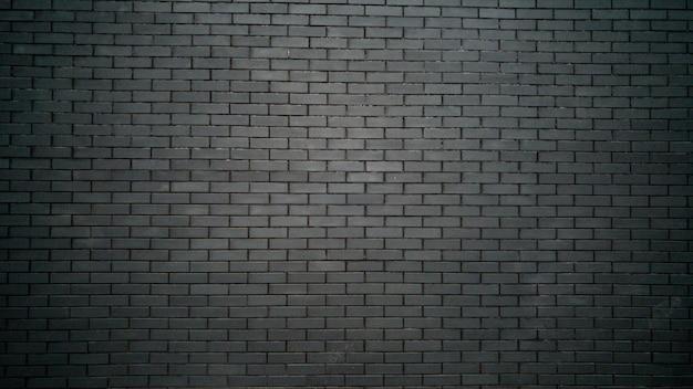 Fond noir et blanc avec mur de briques noires