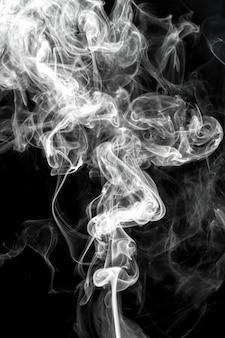 Fond noir de fumée