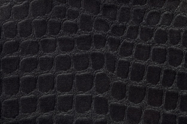 Fond noir d'un matériau textile d'ameublement doux