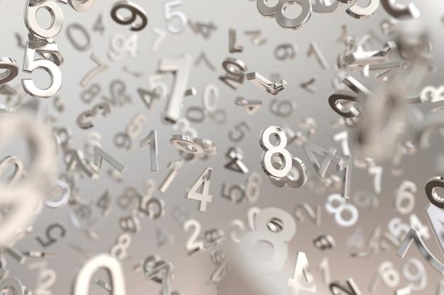 Fond de nombre métallique abstrait