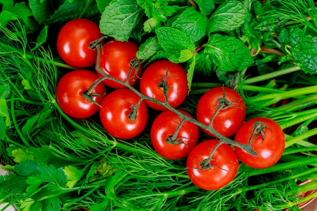 Fond de nourriture biologique farmer's vegetable market