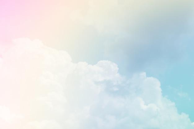 Fond de nuage avec une couleur pastel
