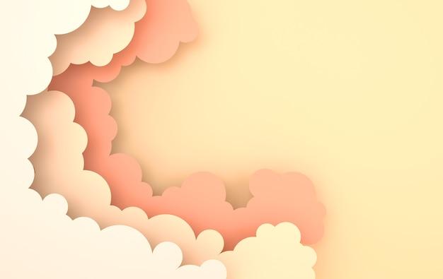 Fond de nuages de papier