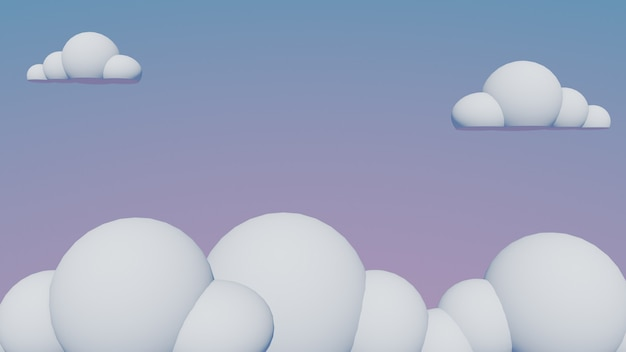 Fond de nuages, rendu 3d