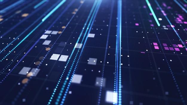 Fond numérique bleu avec des lignes