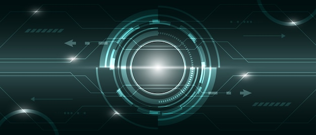 Fond numérique de technologie abstraite, circuit de réseau de connexion futuriste d'illustration. innovation graphique.