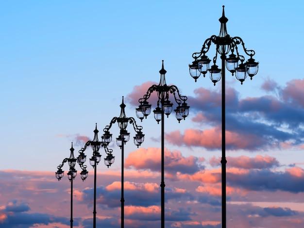 Fond d'objet vertical lampes vintage