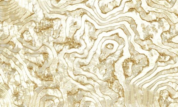 Fond d'or abstrait rendu 3d