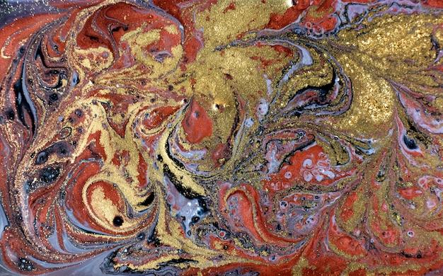 Fond or, bronze et marbré noir. texture liquide en marbre doré.