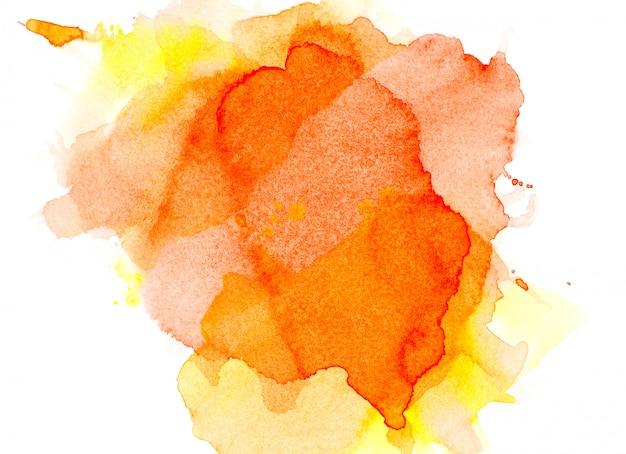 Fond orange aquarelle.