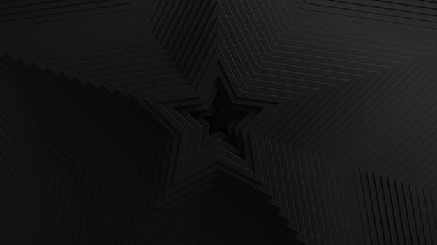 Fond d'oscillation de stores en forme d'étoile abstraite. . surface ondulée étoile 3d. déplacement d'éléments géométriques.