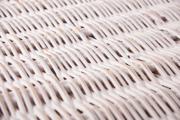 Fond en osier de bambou blanc naturel, texture en osier
