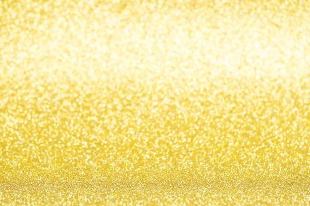 Fond de paillettes jaunes défocalisés