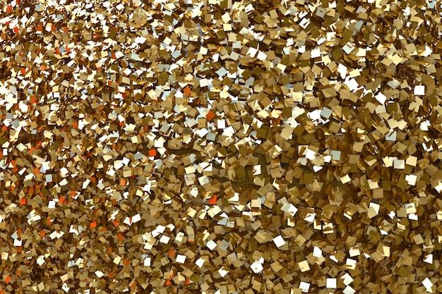 Fond de paillettes d'or et fond de confettis de paillettes d'or