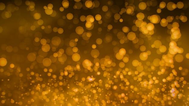 Fond de paillettes d'or glamour bokeh