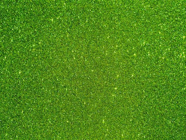 Fond de paillettes vert vue de dessus
