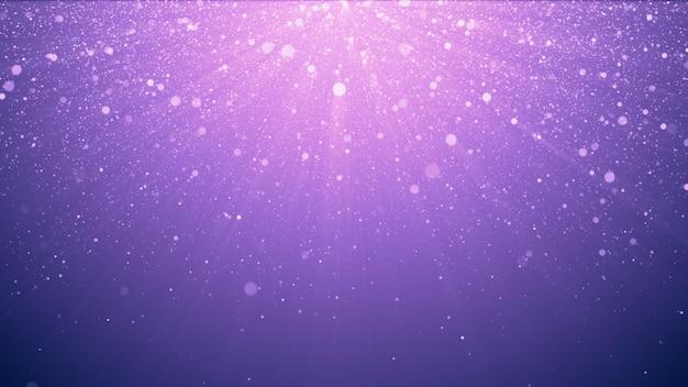 Fond de paillettes violettes avec des étincelles