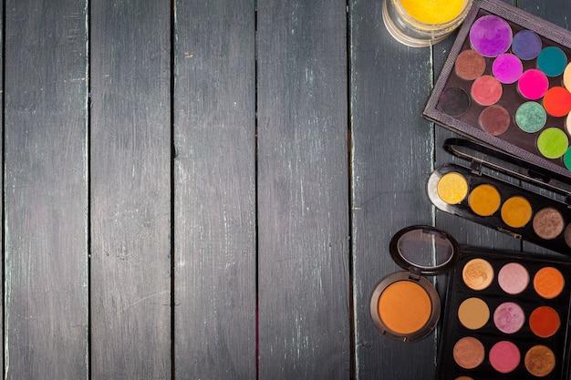 Fond de palette de fard à paupières coloré maquillage