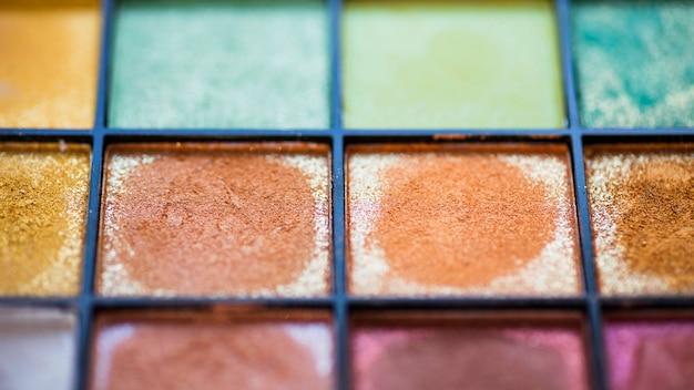 Fond de palette d'ombre à paupières colorée