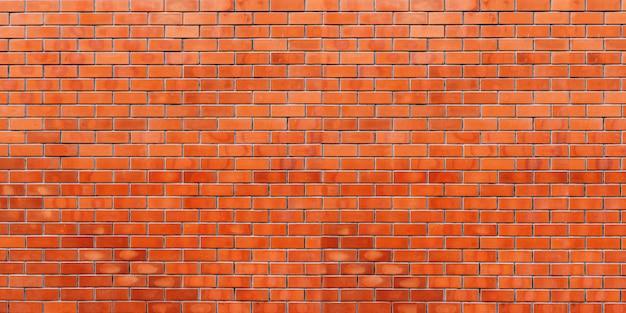 Fond de panorama de mur de briques rouges et texture avec espace de copie.