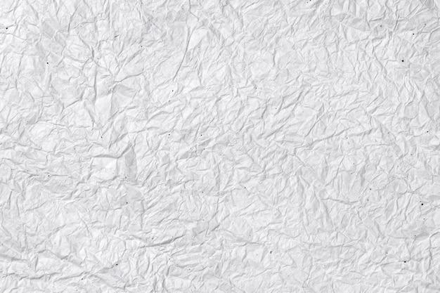 Fond de papier blanc froissé